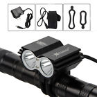 SolarStorm 6000lm 2xT6 LED Front Bicycle Bike Light Headlamp Headlight 6400mAh