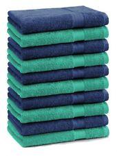Betz 10 Seiftücher Seiflappen Seiftuch Waschlappen PREMIUM 30x30cm grün / blau