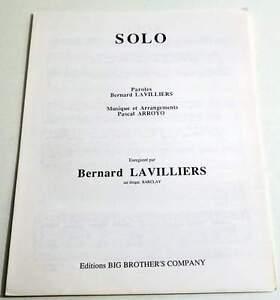 Partition-music-sheet-BERNARD-LAVILLIERS-Solo-90-039-s