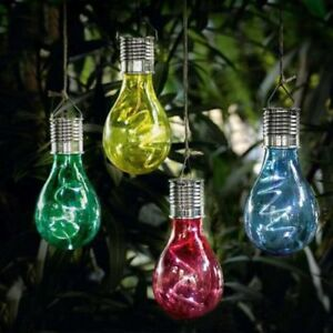 Solar Light Bulbs Hanging Garden Solar Lights Ebay