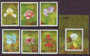 GUINEA-REPUBLIC-1995-FLOWERS-amp-ORCHIDS-SET-6-MINISHEET-MINT-NEVERHINGED