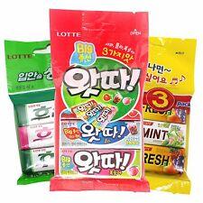 Korean Gum (9 Packs) Lotte Bubble Gum + Lotte Juicyfresh/Spearmint + Flavono Gum
