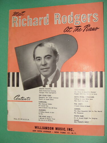 Meet Richard Rodgers at the Piano 1949 Broadway /& Movie Show Tunes