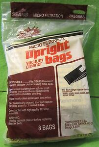 8-Genuine-Sears-Micro-Filtration-Upright-Vacuum-Cleaner-Bags-50688