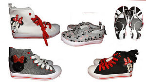 f89a8473ec217 Primark Minnie or Mickey Mouse hi top trainers shoes flip flops BNWT ...