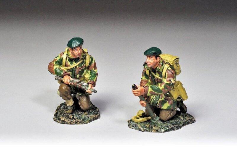 THOMAS GUNN WW2 COMM007 - Two Inch Mortar set with Crew - Commando