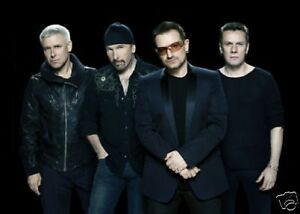 Bono-U2-New-10x8-Photo-Line-Up