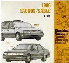 Other Car Manuals 1986 FORD TAURUS MERCURY SABLE BINDER Service ...