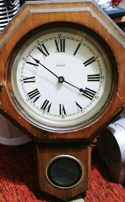 Verichron Schoolhouse Vintage Pendulum Wall Clock Works