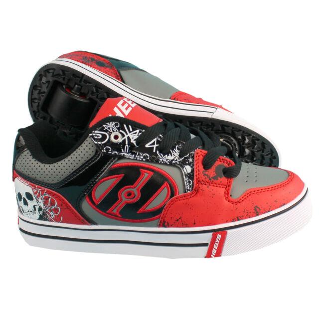 35 Teschio Bambino Nere Scarpe Sneakers Con Rotella 'heelys