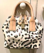 Furla Papermoon Mini Crossbody Leather Leopard-Print Bag in Blush, Grey, White