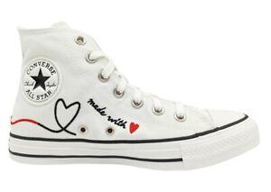 Scarpe donna ragazze Converse all star 171159C sneakers alte chuck taylor bianco