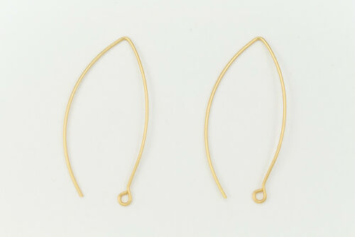 45mm Matte Gold V Shaped Ear Wire #EFF102