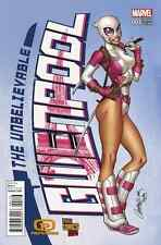 UNBELIEVABLE GWENPOOL 1 RARE J SCOTT CAMPBELL PULPS PARIS EXPO COMIC CON VARIANT