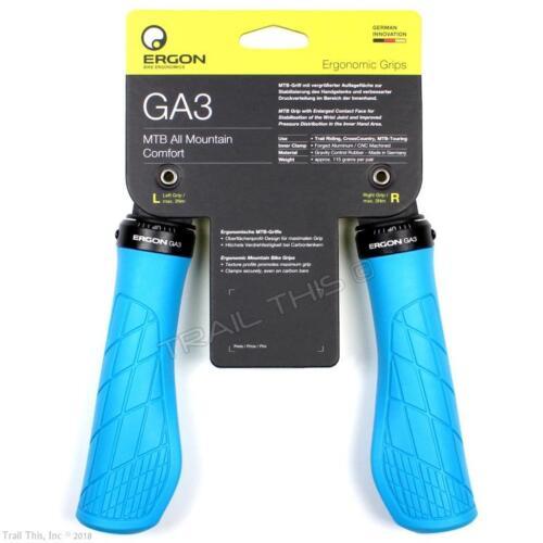 Ergon GA3 Ergo Lock-On Handlebar Bike Grips for MTB Trail Riding All Mountain