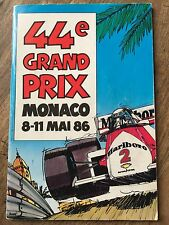 1986 F1 Monaco Programme SIGNED BY ALL DRIVERS Senna Prost Scheckter Mansell