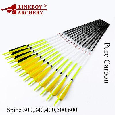 12pcs Sp300-600 Id6.2mm Carbon Pfeile Schäfte Bogenschießen Compoundbogen For Fast Shipping Arrows & Parts