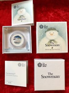 2018 Snowman 50p coin Silver Proof Royal Mint Coa Certificate
