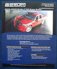 Prospekt brochure 2008 Ford Shelby F-150 Pickup Super Snake (USA)