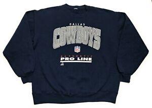 ec04c278d Vintage 90s Dallas Cowboys NFL Pro Line Russell Crewneck Sweatshirt ...