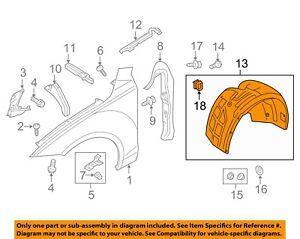 AUDI OEM 12-16 A7 Quattro-Front Fender Liner Splash Shield Right 4G8821172D