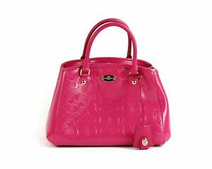 14062eaa7b6 Image is loading NEW-Authentic-Pink-COACH-Patent-Leather-Mini-Margot-