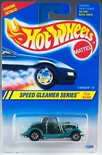 Hot Wheels No. 312 Speed Gleamer Series #1 3-Window '34 Aqua w/7SP's 1995 New