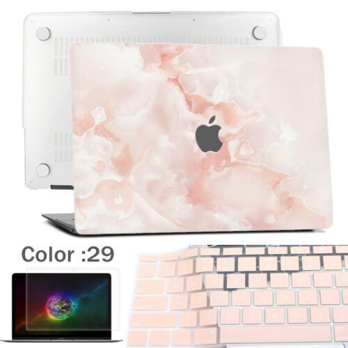 """Marble Logo-Cut Laptop Cover Rubberized Hard case For New Macbook Air 13/""""Retina"""