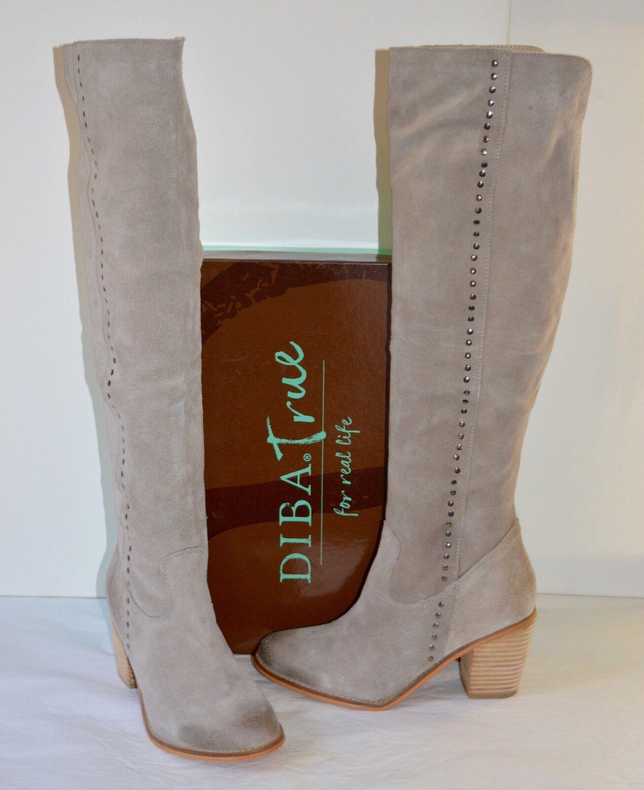 elementi di novità New  200 Diba True Lost Treasure grigio grigio grigio Suede Distressed Over the Knee Tall stivali  in vendita scontato del 70%
