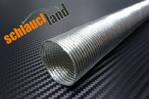 Alu Hitzeschutzrohr 0,5m x ID 25mm *** Wärmeschutz Kabelschutz Alurohr Turbo