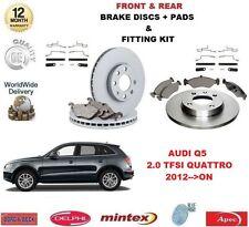 Para Audi Q5 2.0 TFSI Quattro 2012 -- > en la parte delantera + Discos De Freno Trasero & Pastillas + Montaje