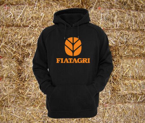 XXL Fiatagri 110-90 Tractor 90-90 Black Heavyweight Hoodie Sweat All Sizes S
