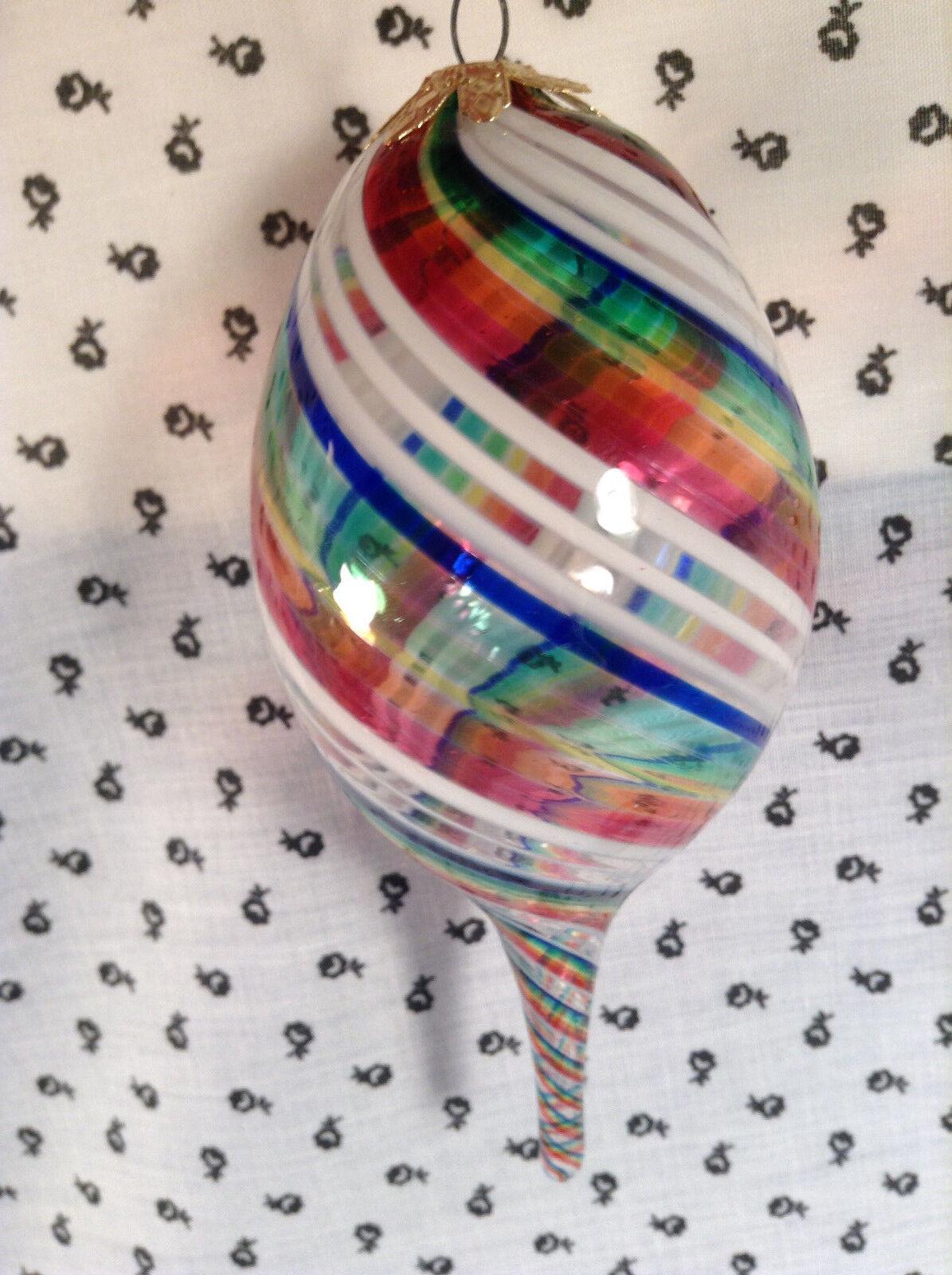8 8 8 Piece Christmas Hand Blown Swirl Large Glass Bubbles Ornament Set  BEST OFFER f5e630