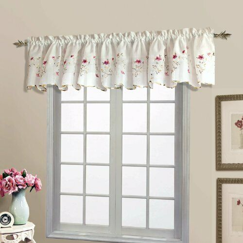 54 by 16-Inch United Curtain Metro Woven Straight Valance