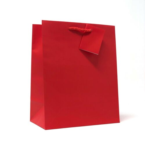"Allgala 240 Case Lot  Premium Medium Solid Matte Finish Paper Gift Bags 9/""x7/""x4/"""