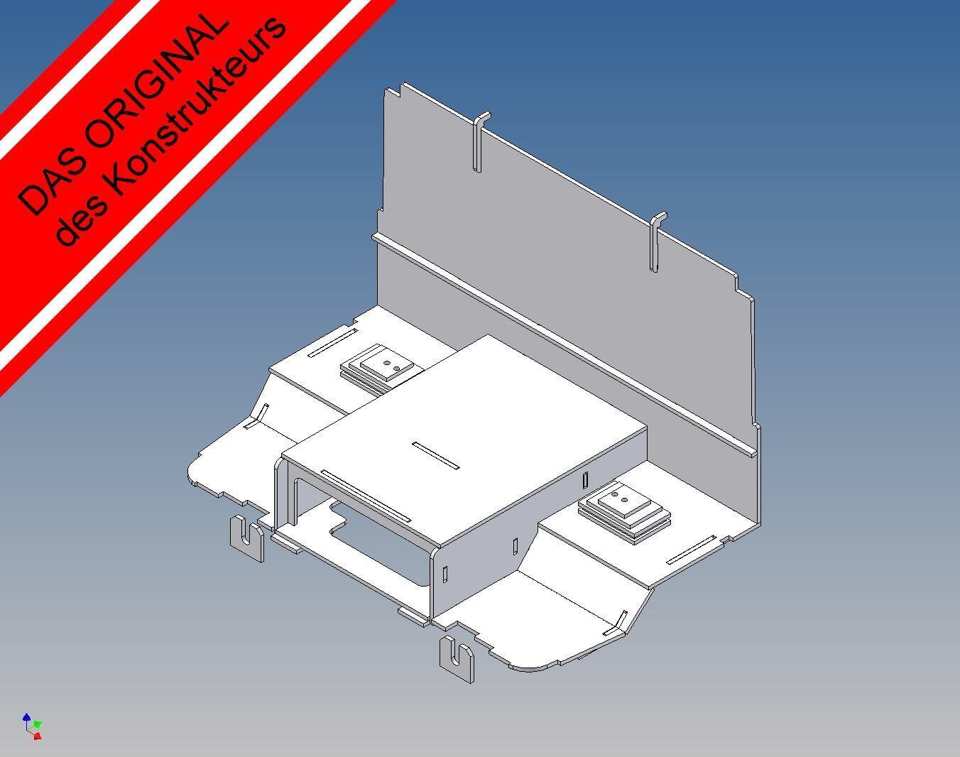 STK - Fahrerhausboden  für Tamiya Scania R- Maßstab 1 14 Trennwand Sitzkonsole