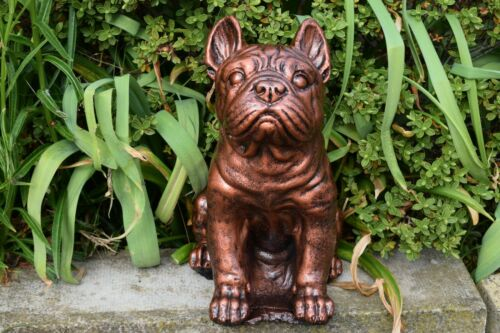 Free UK P/&P French Bulldog//Frenchie Stone Ornament Metallic Copper Finish