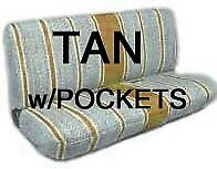 Truck Bench Seat Cover Saddle Blanket Tan 1pc All Full Size Ford Chevy Dodge