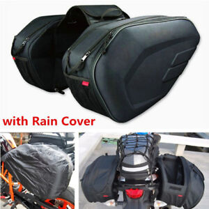 2pcs-Cruiser-Motorcycle-Saddle-Travel-Bag-Side-Helmet-Luggage-Rain-Cover-36-58L