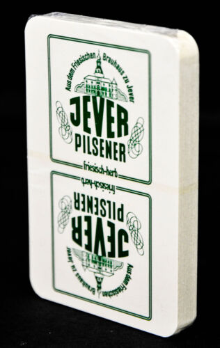Jever Bier, Spielkarten, Skatspiel, Pokerspiel 32 Blatt, 80er Jahre, Original