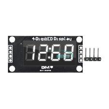 Tm1637 036 Inch 7segment 4 Digit Led Display Clock White Led Tube Module Board