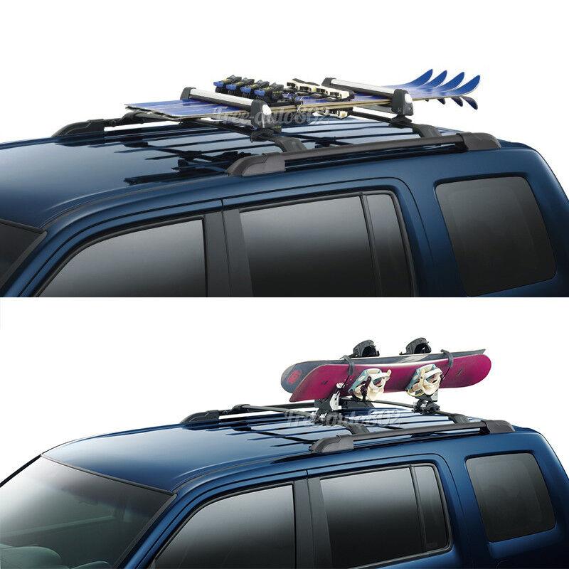 Fit For 09-15 Honda Pilot OE Black Top Roof Rack Cross Bar Mounting Accessory 842961145976 | eBay