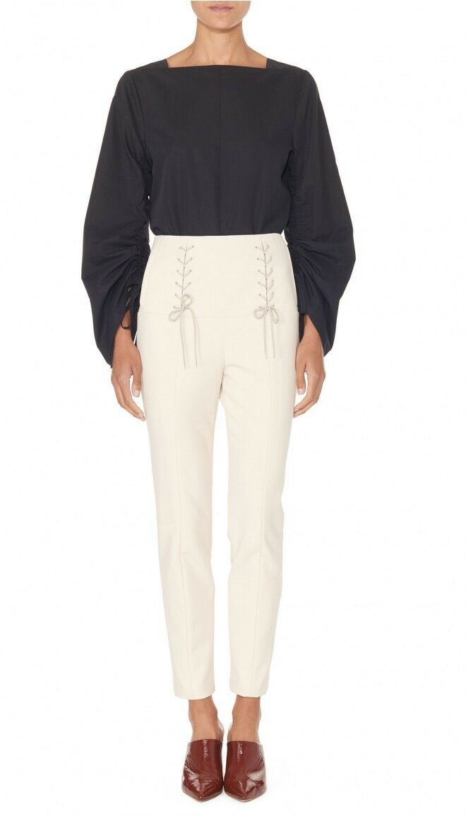 Tibi Anson Stretch High Waisted Skinny Tie Pants Size 4