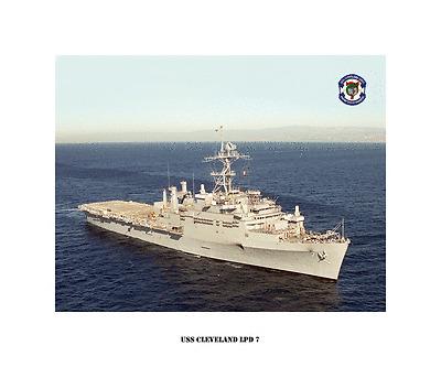 USS CLEVELAND LPD 7 Photo Canvas Print USN Navy Ship