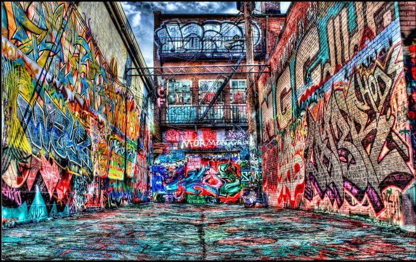 3D Frönte Graffiti 088212 Fototapeten Wandbild Fototapete BildTapete Familie DE