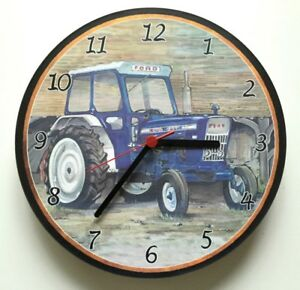 Ford-4000-Tractor-with-Cab-Battery-Wall-Clock-Tractor-Wall-Clock-new
