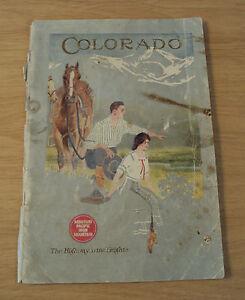 "Antique ca 1914 TRAVEL Booklet~""COLORADO""~Missouri Pacific Iron Mountain~"
