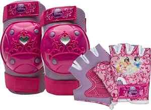 Bell-Princess-Kids-Bike-Protective-Gear-Elbow-Knee-Pads-Glove-Set-Girls-Age-4-8