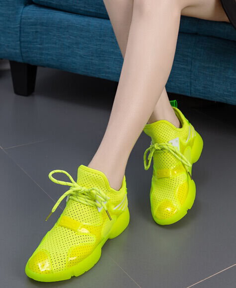 LL Fashion Candy fluorescence Color Jogging Sport Sneakers Breathe femmes Chaussures