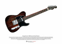 George Harrison's Rosewood Fender Telecaster ART POSTER A3 size